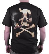 Dissizit! Mens Blunted English D x Bones Blunt Smoking Black T-Shirt Slick LA image 1