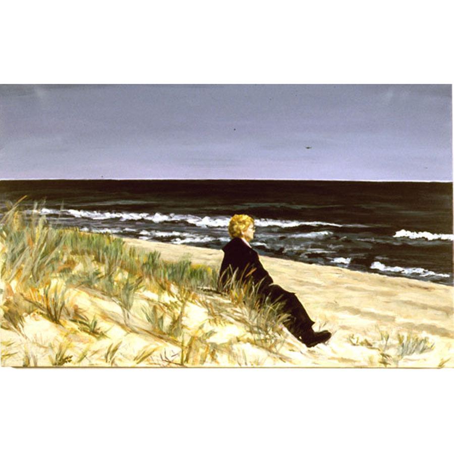 On The Beach (An Original Seascapel With Figure )