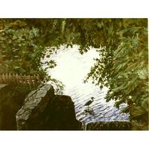 Fishing At Stony Brook (Original Painting Set in Stony Brook - $1,600.00