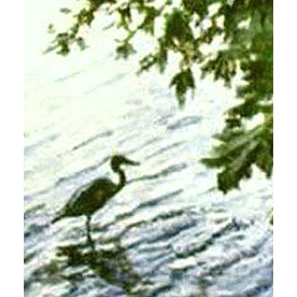 Fishing At Stony Brook (Original Painting Set in Stony Brook