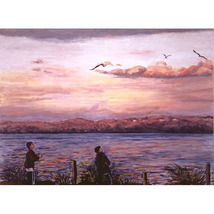 March Flight (Original Landscape Painting With Figures) - $1,200.00
