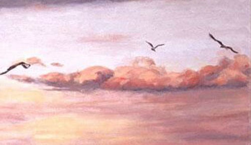 March Flight (Original Landscape Painting With Figures)