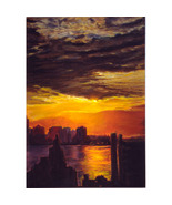 Hudson View II (Original Painting of a New York... - $3,200.00