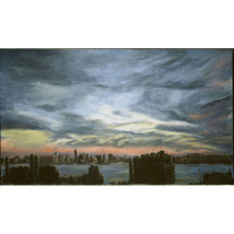 The Jersey Side II (Original Painting of  New York City) - $1,700.00