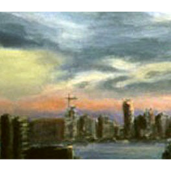 The Jersey Side II (Original Painting of  New York City)