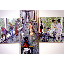 Crosswalk Gestures (An Original Cityscape Painting) - $3,500.00