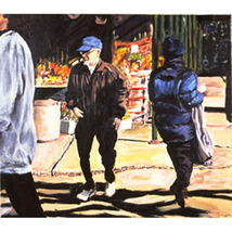 January Jog: Crossing (An Ooriginal Cityscape P... - $1,200.00