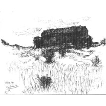 In Cortuida ( Landscape Drawing in Ink) - $200.00