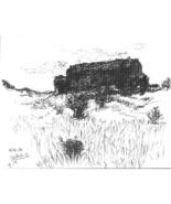 In Cortuida ( Landscape Drawing in Ink) - $200.00