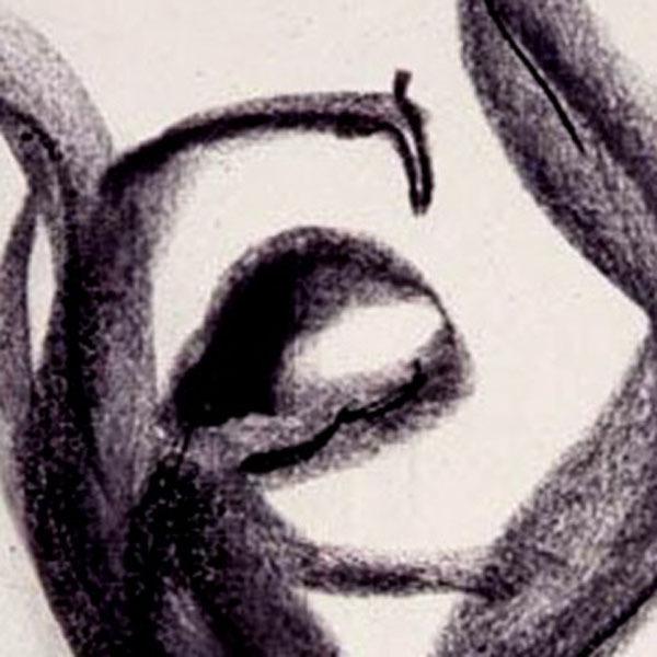 Heroine V (An Original Abstrct Figural Drawing)