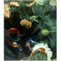 In The Deep I V  (An Ooriginal Painting Set in an Aquarium) - $1,200.00