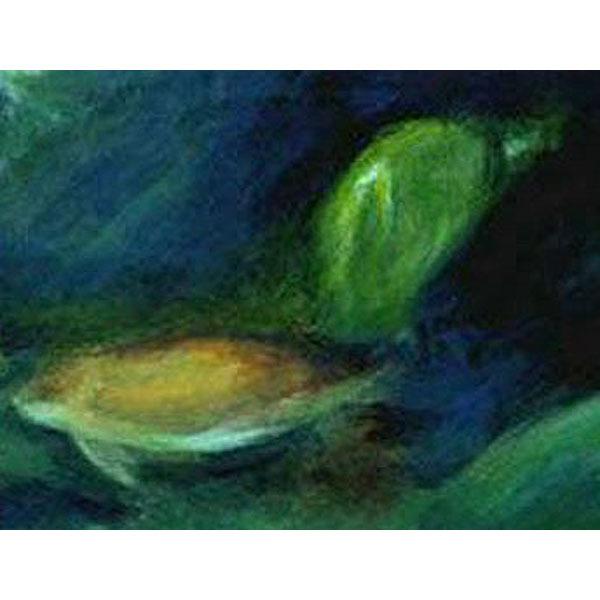 In The Deep V  (An Original Painting set in an Aquarium)