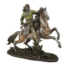 "Top Collection 12"" Native American Warrior, Geronimo, Going to Battle St... - $121.33"