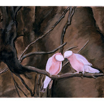 Pink (An Original Painting of the Rosy-Breasted... - $400.00