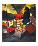 The Fruitman On The Canal ( Fauvist Oil Painting) - $1,800.00