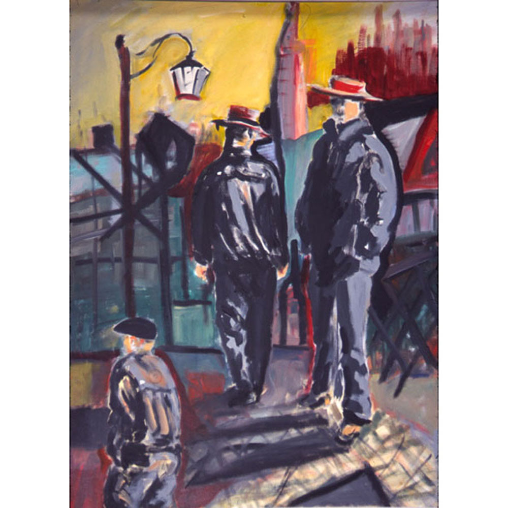 The  Gondoliers ( Fauvist  Oil Portrait)