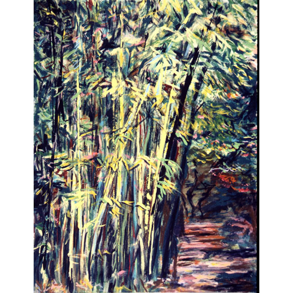 Bamboo in Lucca (An Original Landscape Painting)