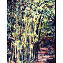 Bamboo in Lucca (An Original Landscape Painting) - $1,000.00