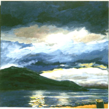 Fijord View II ( Original Landscape of  Norway - $1,200.00