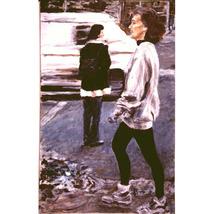 January Jog: Woosh (Original Portrait of a New York Woman) - $1,000.00