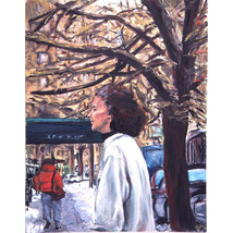 January Jog: West 12th Street (Original NYC Cityscape) - $1,000.00