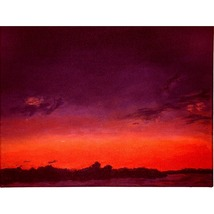 Sunset On Fort Pond (Original landscape/seascape painting) - $500.00