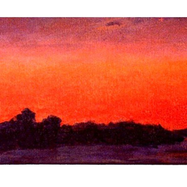 Sunset On Fort Pond (Original landscape/seascape painting)