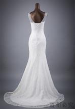 Lace floral mermaid Wedding Dress at Bling Brides Bouquet Online Bridal Store image 5