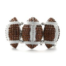 Inspired Silver The 13.0 Carat Football trio Charms Light Weight Enamel ... - $593,31 MXN