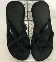 Teva Sandals Strappy Black Flip Flop Mush Olawahu Women's Size 7 - $15.98