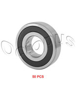 """50 Pcs Premium R16 2RS ABEC1 Rubber Sealed Deep Groove Ball Bearing 1""""*2... - $109.99"""