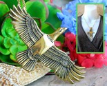 Vintage arch avary eagle bird pendant necklace gold brass signed 1988 thumb155 crop