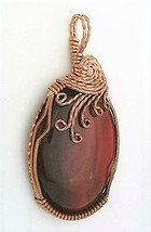 Carnelian Agate Copper Wire Wrap Pendant 59 - $27.95