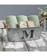 Galvanized Monogram Bucket M - $13.65