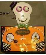 Metal Skeleton Halloween Pumpkin Jack-o-lantern Holder Accent Decoration... - $9.97