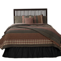 3-pc King - BECKHAM Quilt and Shams Set - Rust, Creme, Black - VHC Brands