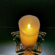 2 (Two) HOME INTERIORS Lead Crystal Pentacle Star Candle Base image 6