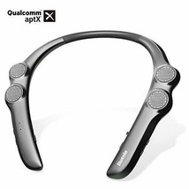Neckband Bluetooth Speaker, Wireless Wearable Speaker Titanium Gray - $77.54 CAD