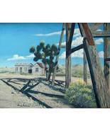 Ghost Town Goldfield Nevada Realistic Original Oil Painting on Stretched... - $575.00