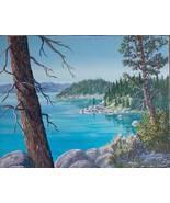 Eastside Shore Lake Tahoe Landscape Original Realistic Oil Painting Canvas - $340.00