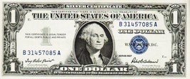 SERIES 1957          ONE DOLLAR SILVER CERTIFICATE== GOOD/CRISP CONDITION - $2.69