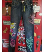 Ed Hardy 7829 Melrose jeans size 27, pre-owned large designs - $45.00