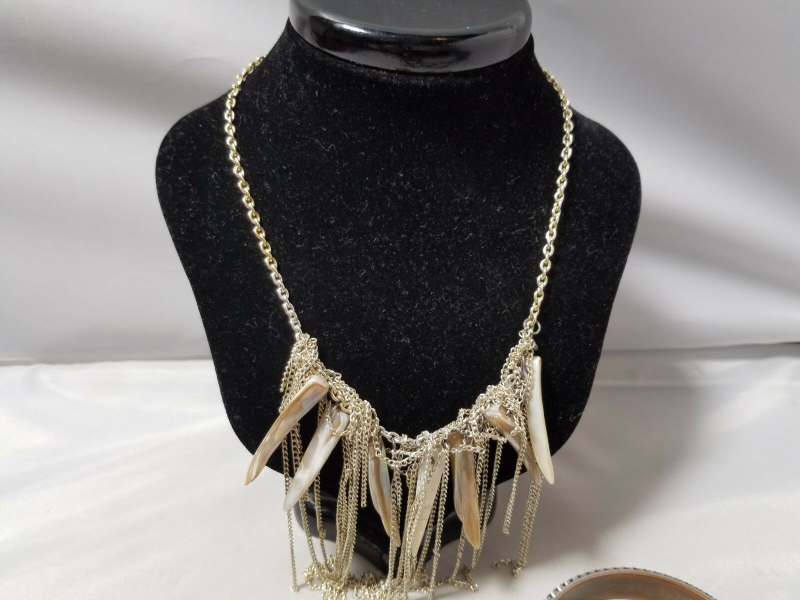 Vintage Retro Mod Fashion Jewelry Set Earrings Bangle Necklace Silver Tone