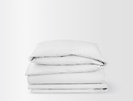 Modern Cotton Twin Size Body Duvet Cover In White - $69.29