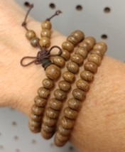 Prayer Beads 108 Bead Mala Prayer Beads - 8mm Natural Wenge