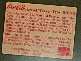 Coca-Cola Sign AA-191801 Collectible image 3