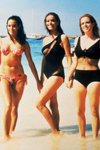 Claudine Auger Luciana Paluzzi Martine Beswick in surf 18x24 Poster - $23.99