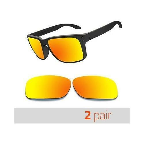 2 pairs Optico Polarized Replacement Lenses for Oakley Holbrook Sunglasses Red