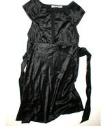 New Womens NWT Designer Nu Collective Dress L Black Silk Bloomingdales C... - $104.00