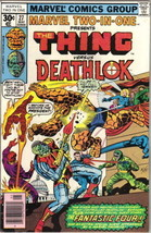 Marvel Two-In-One Comic Book #27 The Thing versus Deathlok Marvel 1977 FINE - £2.36 GBP